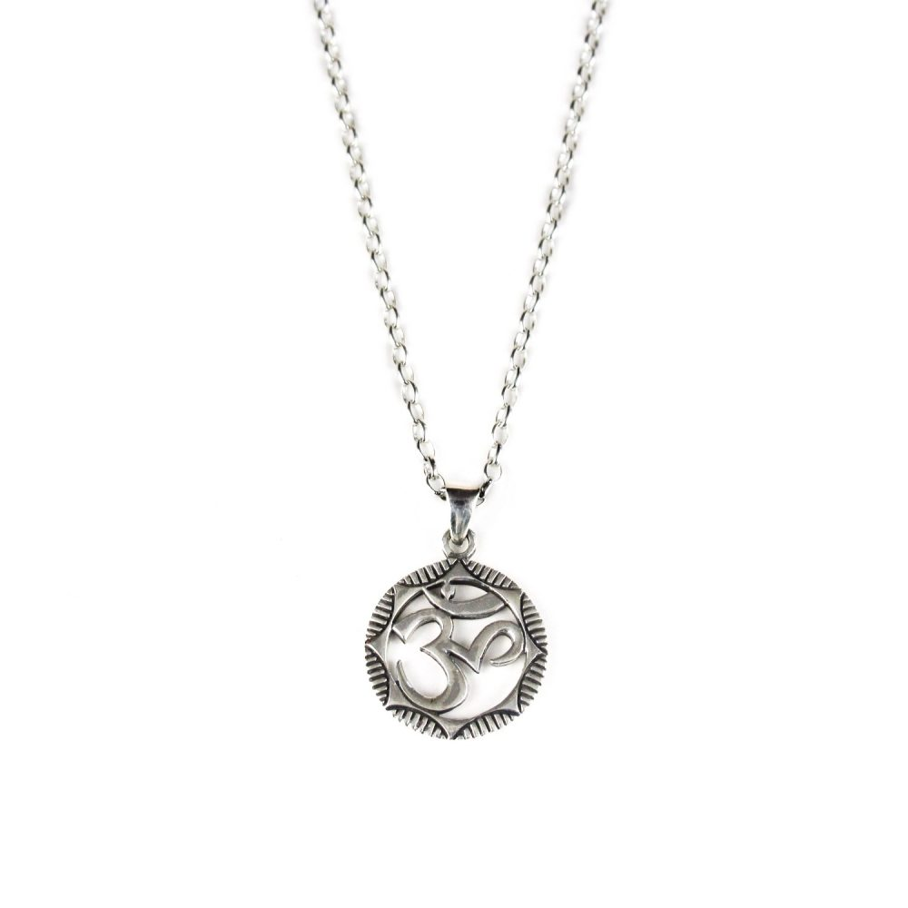 'Om' Silver Necklace
