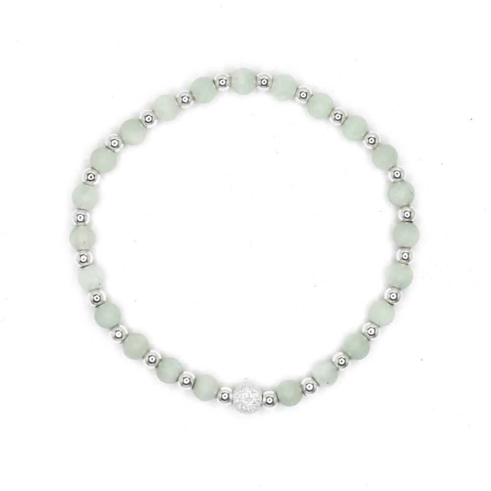 amazonite bracelet, sterling silver bracelet, gemstone bracelet, fashion bracelet, blue bracelet, spiritual bracelet, chakra, Amazonite stone bracelet - 925 Sterling Silver - Tokyo Collection