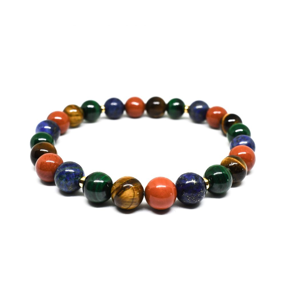 Beaded bracelet for men, beaded bracelet for women, multi coloured bracelet, chakra bracelet, luxury bracelet, semi precious, OMMO Bracelet