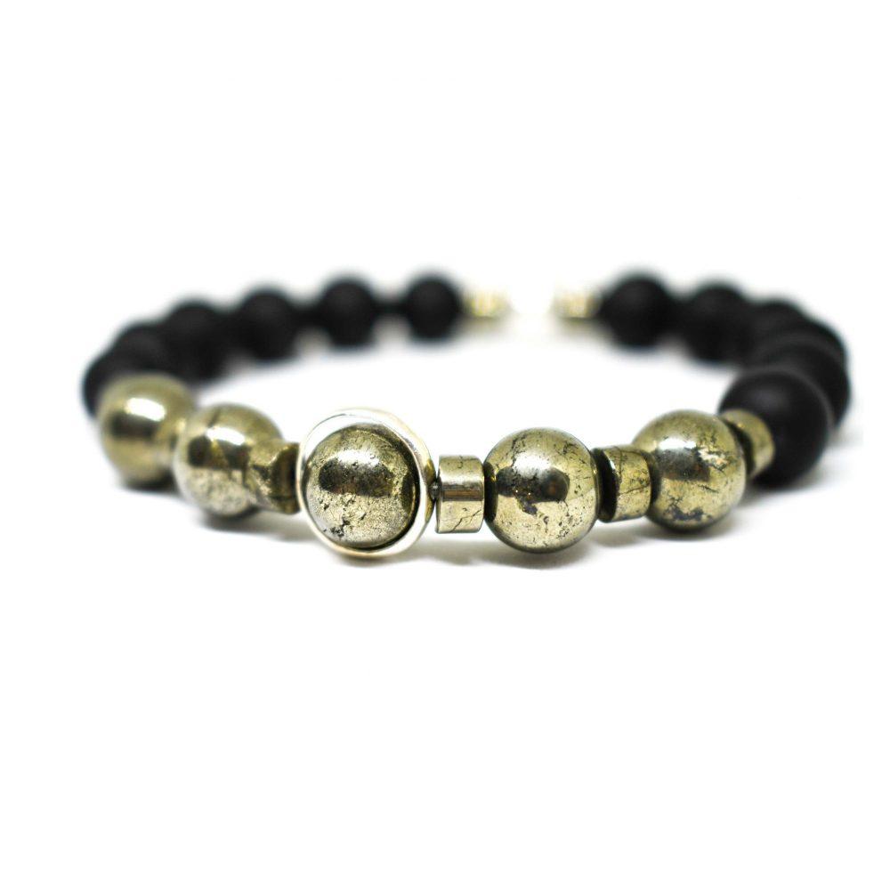 OMMO BraceletLuxury bracelet, black bracelet, natural bracelet, meditation beads, onyx, lava bracelet, jewellery for him