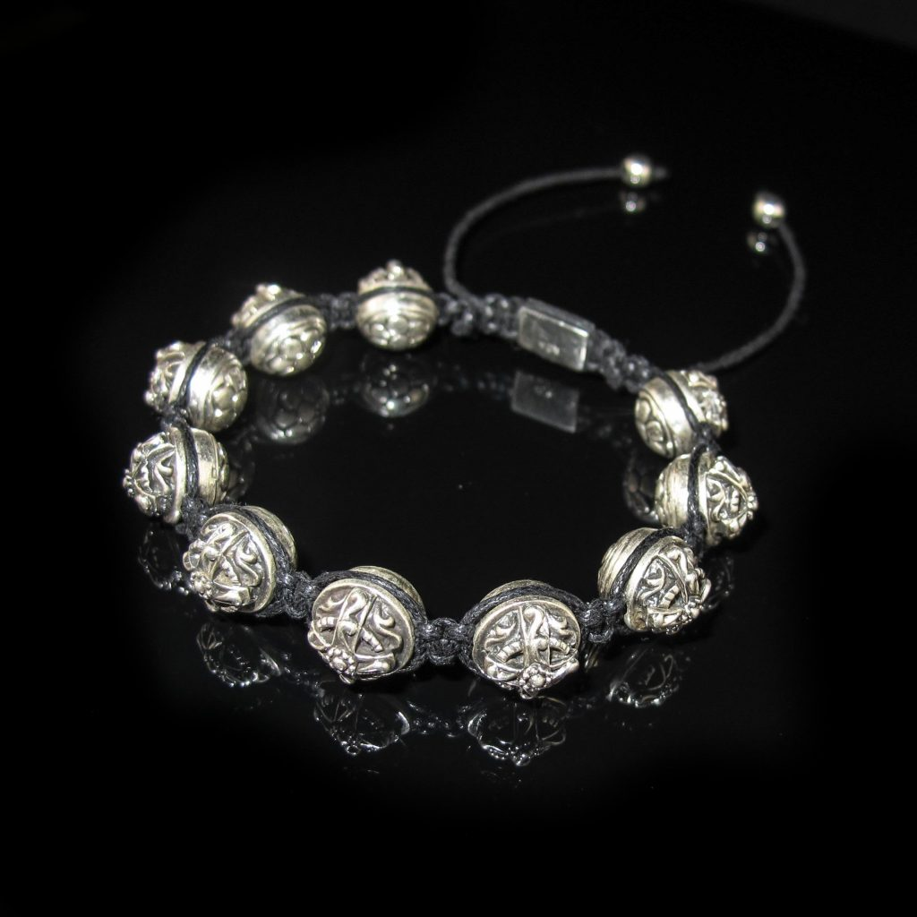 bracelet for men, shamballa bracelet for men, luxury designer bracelet for men, sterling silver bracelet for men, cross