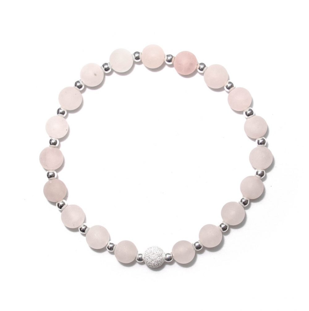 Beaded bracelet, pinterest bracelet, rose bracelet, rose quartz beaded bracelet, rose quartz beads, sterling silver, Rose Quartz stone bracelet - 925 Sterling Silver - Tokyo Collection