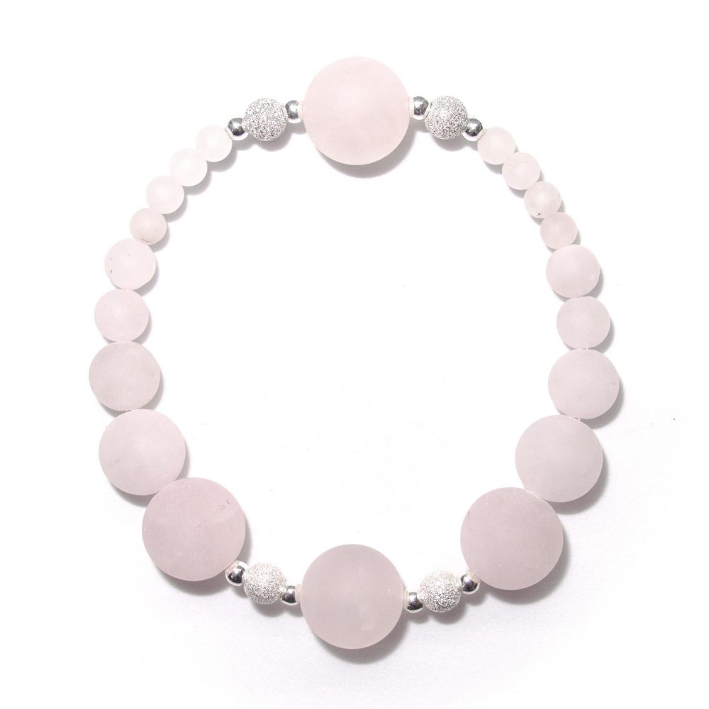 Gift bracelet idea, rose quartz bracelet, jade bracelet, OMMO bracelet, Rose quartz, Womens jewellery, jewellery for women, OMMO Bracelet - Paris Collection - Rose Quartz