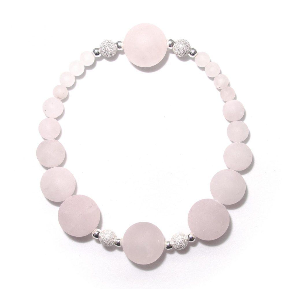 Gift bracelet idea, rose quartz bracelet, jade bracelet, OMMO bracelet, Rose quartz, Womens jewellery, jewellery for women, OMMO Bracelet - Paris Collection - Rose Quartz