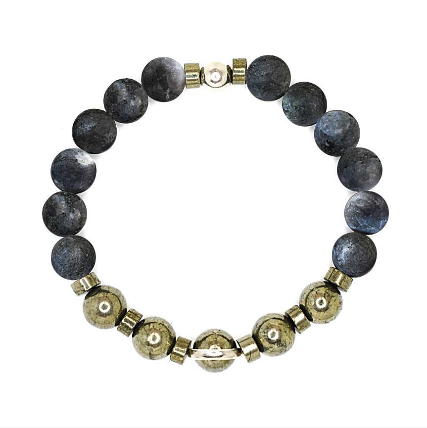 Black onyx bracelet, Mens bracelet, Beaded bracelet, Mens beaded bracelet, Sterling silver bracelet, Spiritual bracelet, OMMO Bracelet