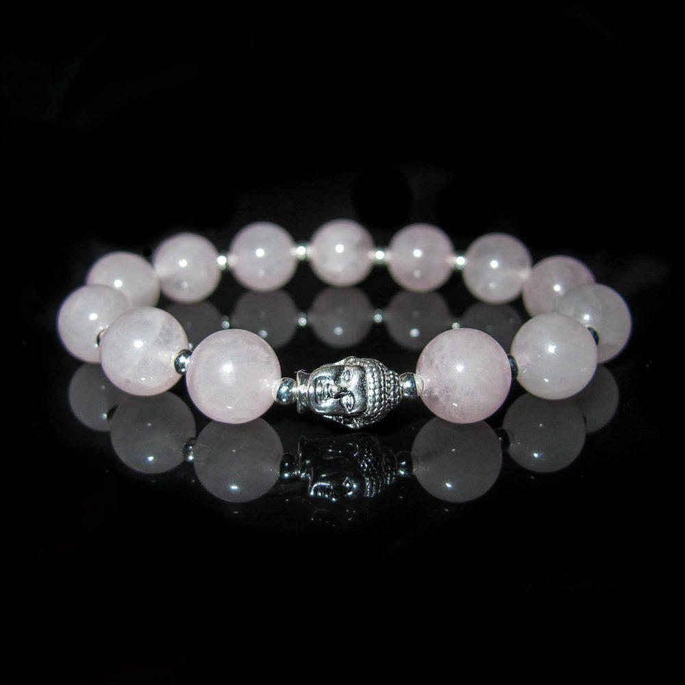 bracelet, OMMO bracelet, buddha bracelet, luxury bracelet for men, luxury buddha silver bracelet, rose quartz bracelets