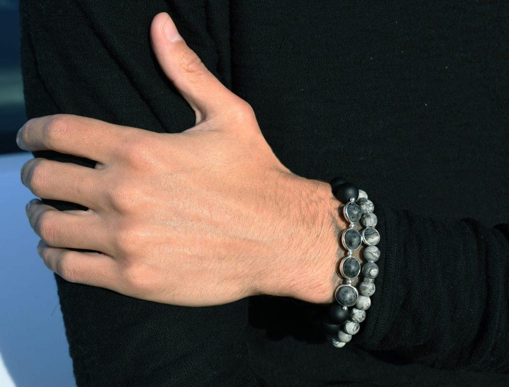 semi precious stones bracelet, bracelet for men, beaded bracelet for men, onyx bracelet, red bracelet, luxury bracelet, OMMO Bracelet
