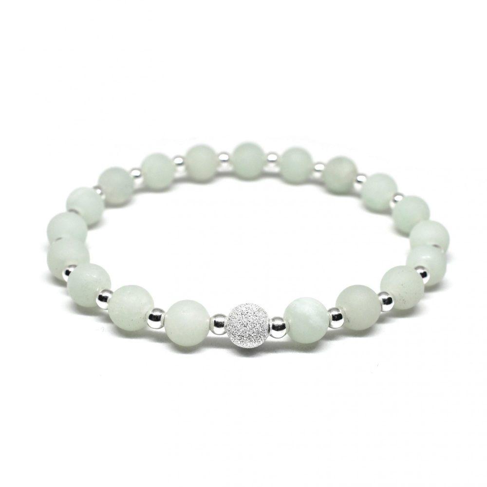 Stretch bracelet for women, bracelet for her, womens bracelet, mint bracelet, amazonite bracelet, sterling silver bracelet, Amazonite stone bracelet - 925 Sterling Silver - Tokyo Collection
