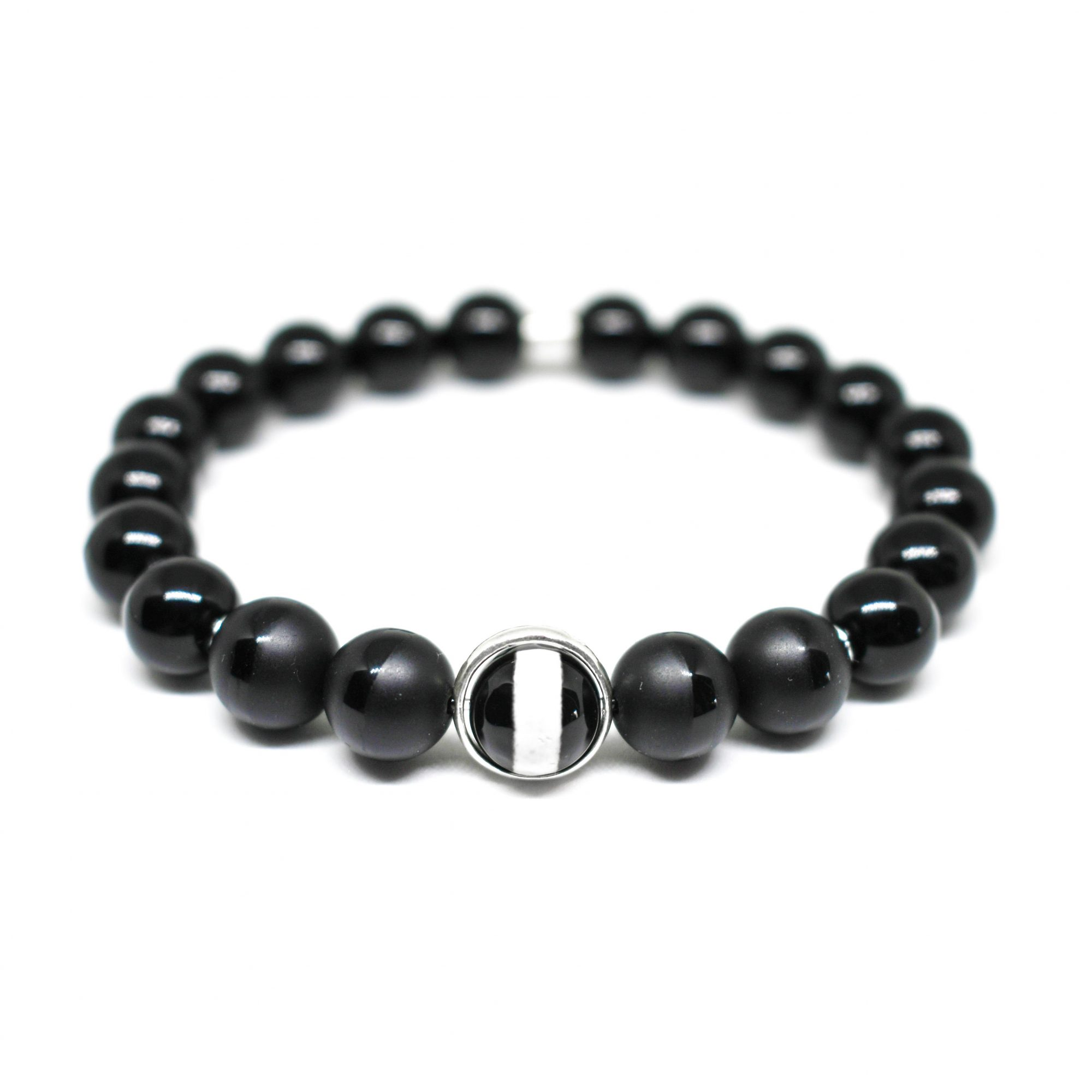 natural beaded bracelets mens hand boys buddha bangle product stone couple jewelry black men beads bracelet gift