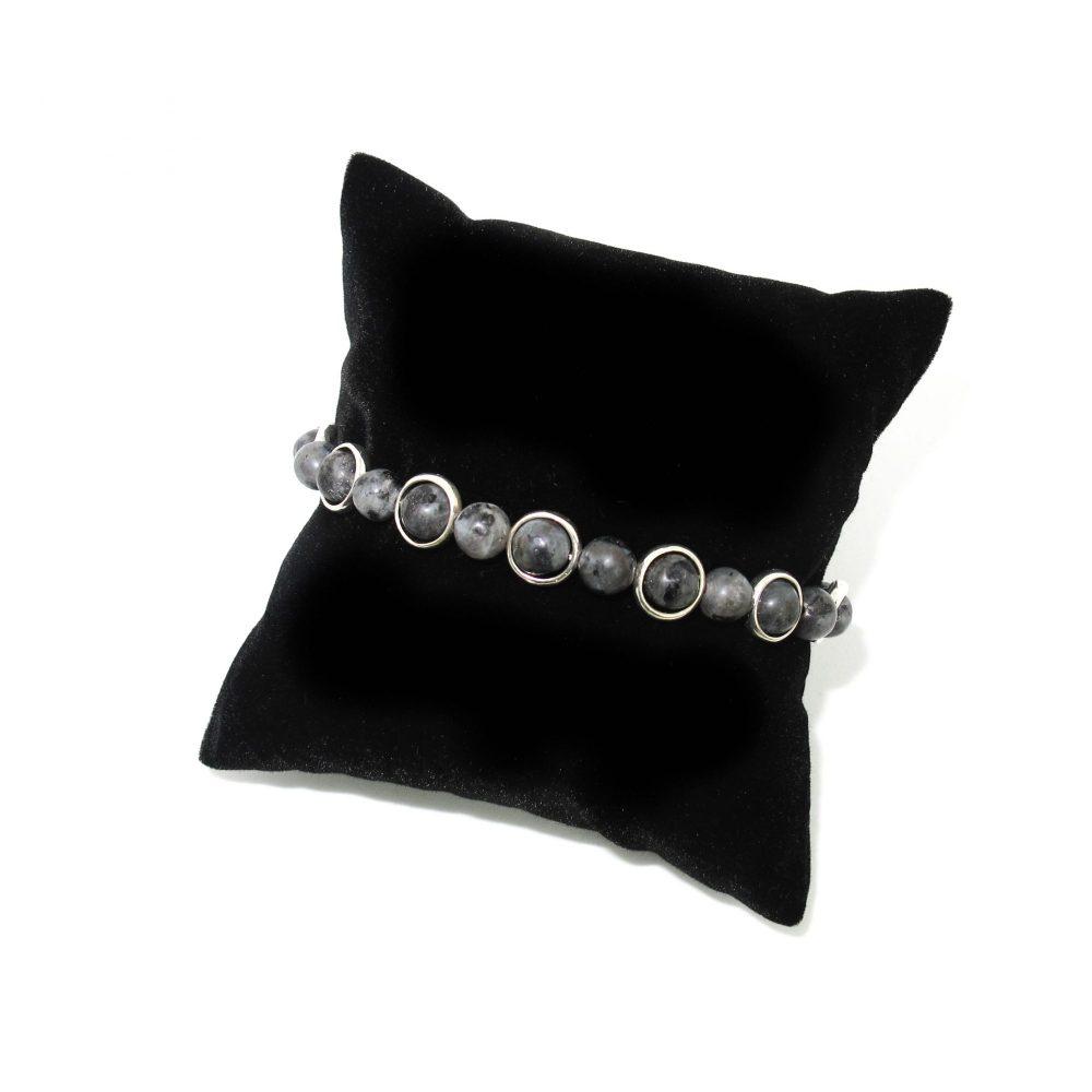 labradorite bracelet, grey bracelet, silver bracelet, spiritual bracelet, healing bracelet, mens bracelet, chakra bracelet, OMMO Bracelet