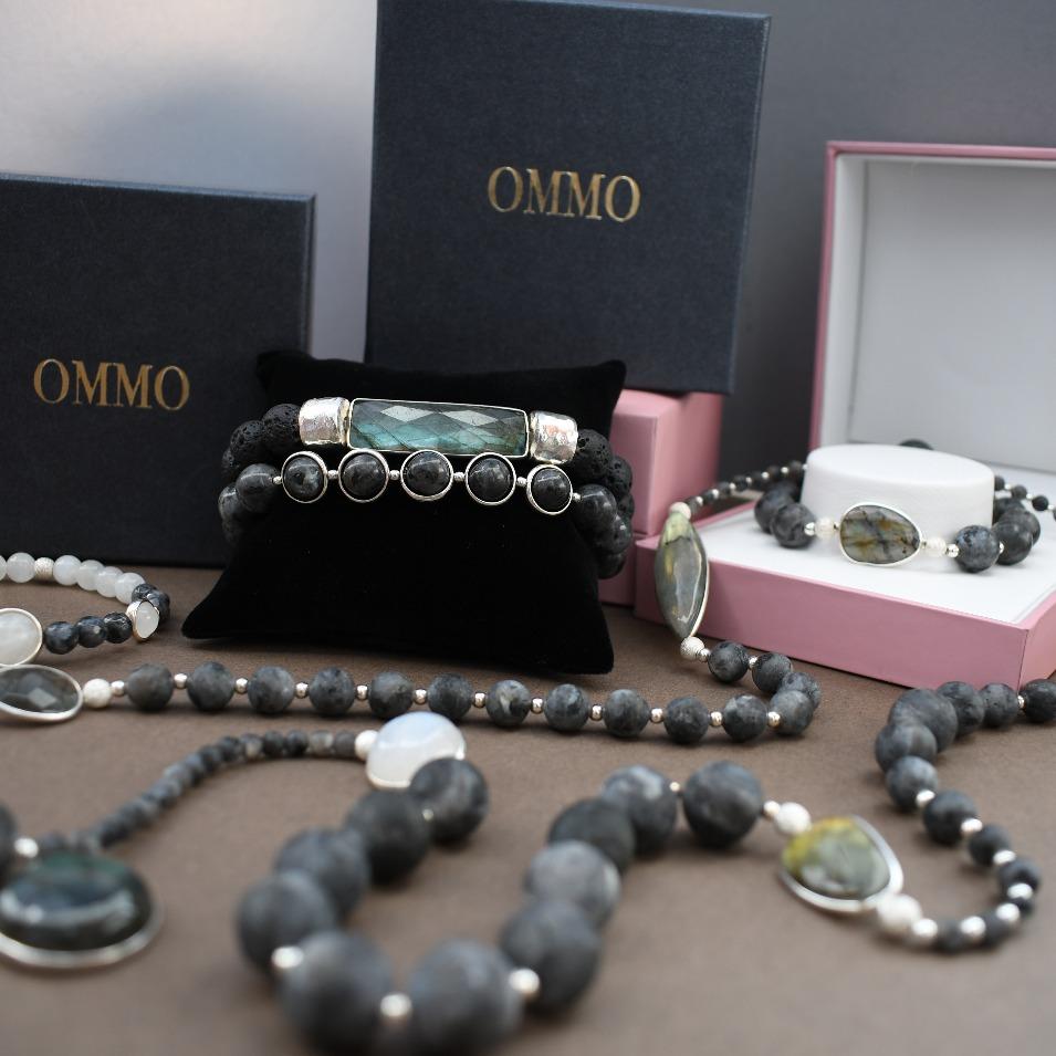 Blue bracelet, beaded bracelet, mens fashion, mens style, sterling silver bracelet, spiritual bracelet, mens accessories, OMMO Bracelet