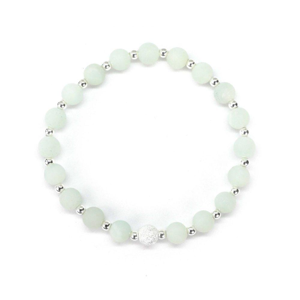 Amazonite bracelet, sterling silver bracelet, gemstone bracelet, fashion bracelet, green bracelet, spiritual bracelet, chakra, Amazonite stone bracelet - 925 Sterling Silver - Tokyo Collection