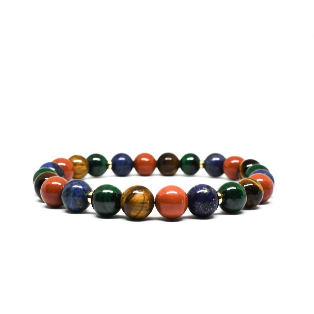Tiger's eye bracelet, malachite bracelet lapis lazuli bracelet, red jasper bracelet, OMMO Bracelet