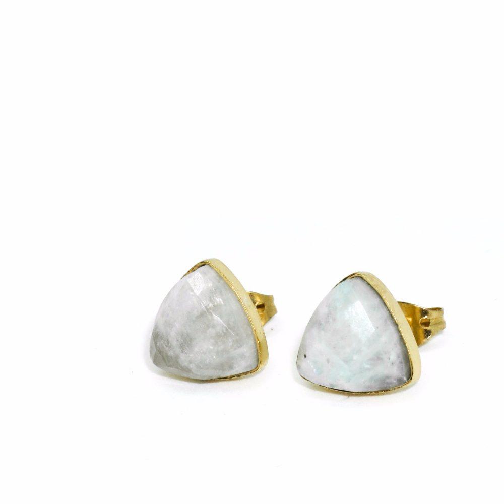 semi precious earrings, moonstone earrings, moonstone jewellery, birthstone jewellery, birthstone earrings, chakra, healing, MOONSTONE AND GOLD EARRINGS