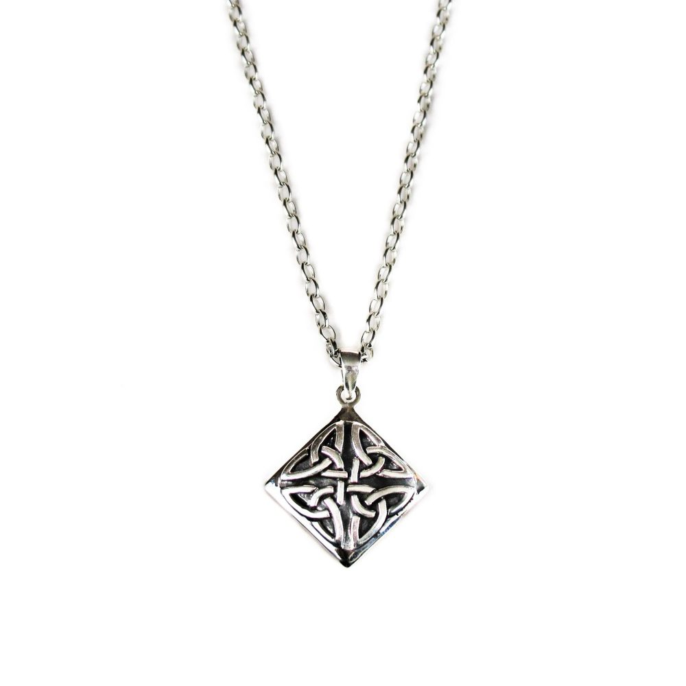 Diamond Shape Sterling Silver Necklace