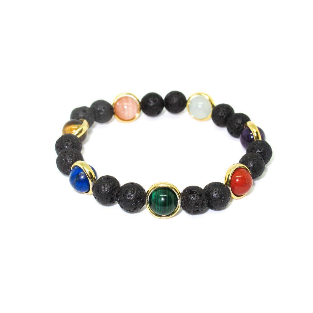 Chakra bracelet, luxury chakra bracelet, chakra bracelet with gold, chakra bracelet uk, meditation bracelet, healing bracelet