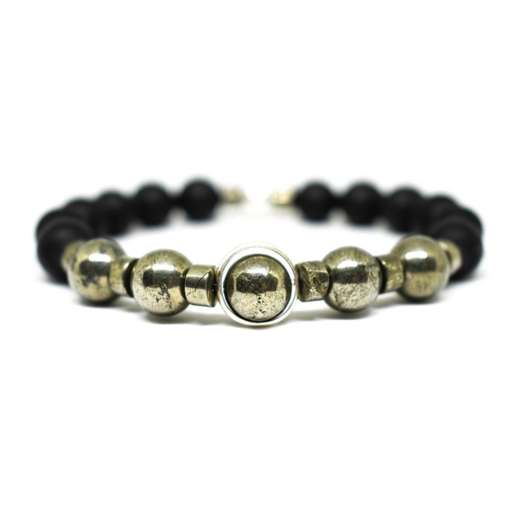 Matte onyx bracelet, black onyx bracelet, mens bracelet, power bracelet, spiritual bracelet, mens accessories