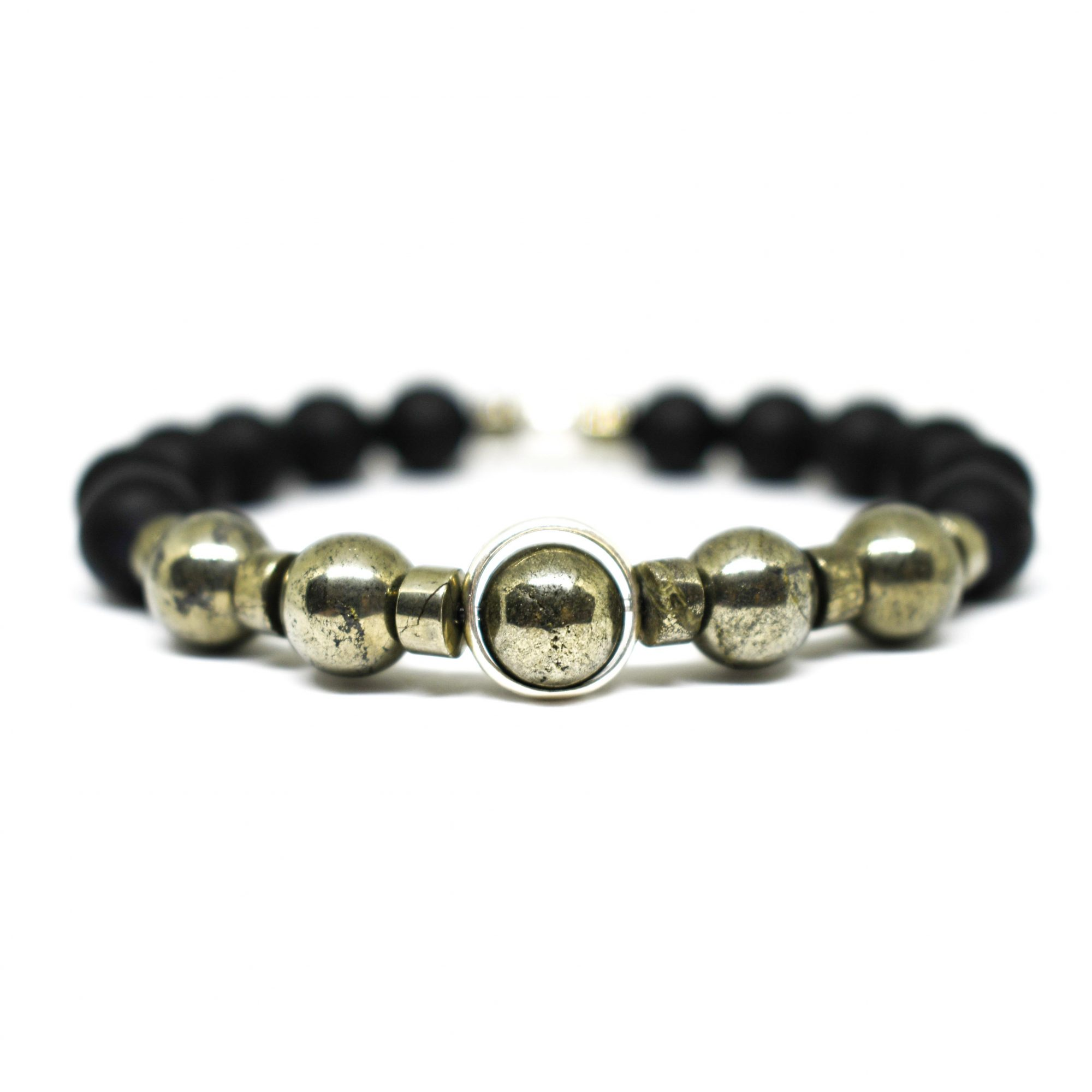 onyx page collection beaded bracelet ommo men product for matte mens london d s black
