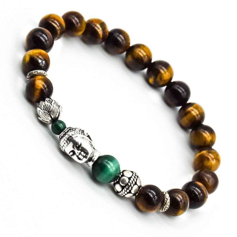 Tiger's Eye Buddha Bracelet, Buddha Tiger's Eye Bracelet for women, buddha bracelet, bracelet with buddha, tigers eye bracelet, silver buddha bracelet, lotus bracelet, buddha and lotus bracelet, luxury buddha bracelet, designer buddha bracelet