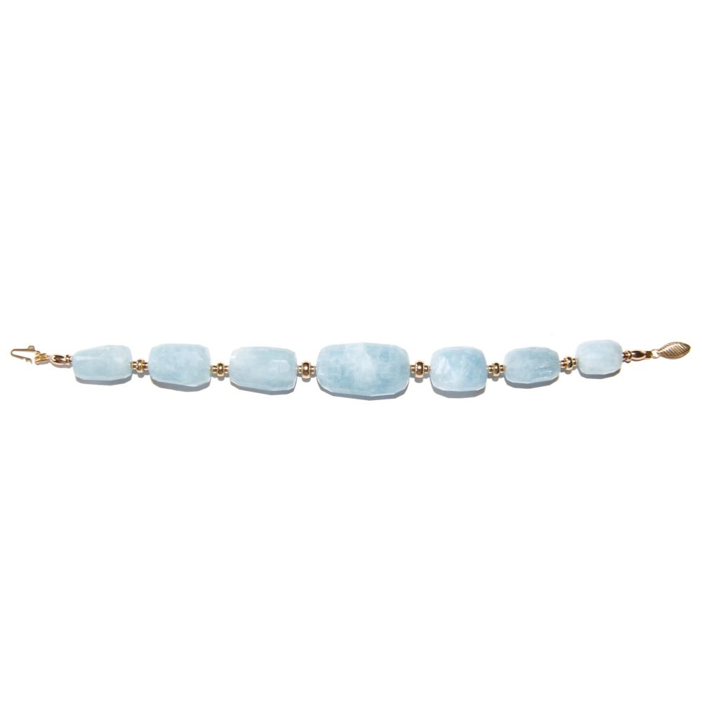 Aquamarine and Gold bracelet, luxury aquamarine bracelet, aquamarine chunky bracelet, designer aquamarine bracelet, aquamarine jewellery, gold bracelet for women, blue bracelet, present for her, aquamarine jewelry, aquamarine stone