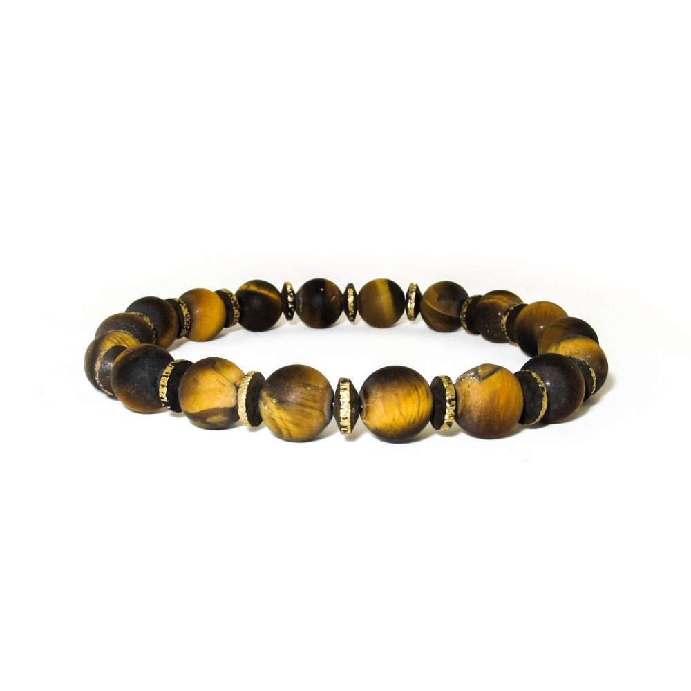 Tiger's Eye Beaded Bracelet, brown bracelet, tigers eye bracelet, designer bracelet, tigers eye bracelet mens, tigers eye jewellery, protection bracelet, Matte tigers eye bracelet