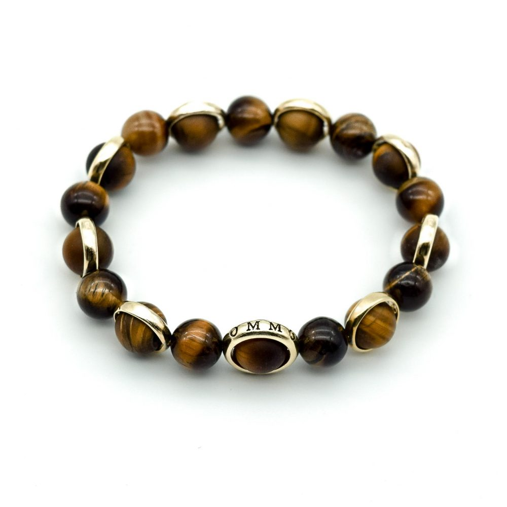 tiger's eye bracelet, tiger's eye beaded bracelet, matte tiger's eye bracelet, mens designer bracelets, luxury bracelets, beaded bracelets uk