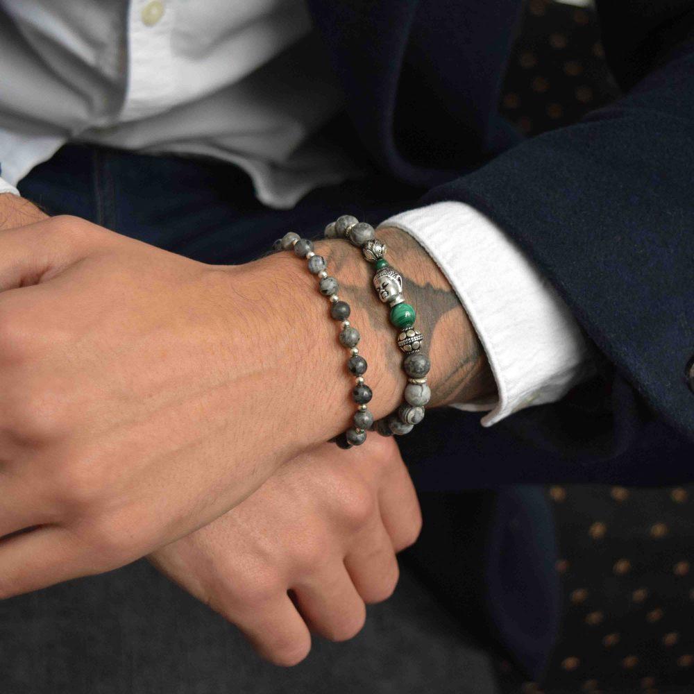 Grey beaded bracelet, Jasper Bracelet for men, designer bracelet, buddha bracelet for men, mens buddha bracelet. spiritual bracelet, malachite bracelet, 925 buddha bracelet, designer beaded bracelet, mens luxury bracelet, healing bracelet, healing jewellery