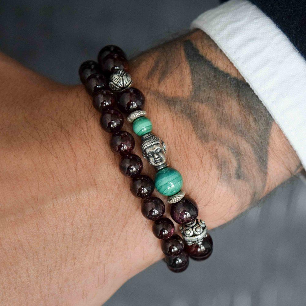 Garnet Bracelet for men, designer bracelet, buddha bracelet for men, mens buddha bracelet. spiritual bracelet, malachite bracelet, 925 buddha bracelet, designer beaded bracelet, mens luxury bracelet, healing bracelet, healing jewellery