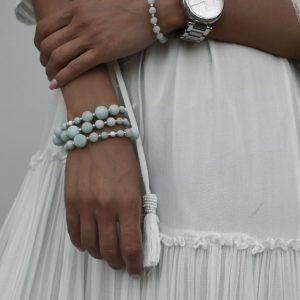 Amazonite and Silver Bracelets, amazonite bracelet, amazonite jewellery, amazonite beaded bracelet uk, green bracelet for women