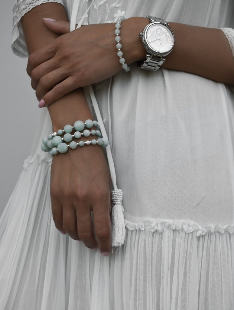 Amazonite and Silver Bracelets, amazonite bracelet, amazonite jewellery, amazonite beaded bracelet uk, green bracelet for women