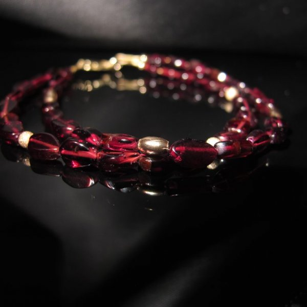 Garnet and 9ct Gold Bracelet for women, garnet bracelet, garnet and gold bracelet, red bracelet, luxury bracelet
