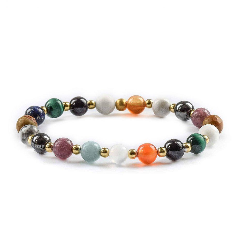 back pain bracelet, back pain relief bracelet, back pain healing bracelet, crystal healing bracelet, gemstone bracelet