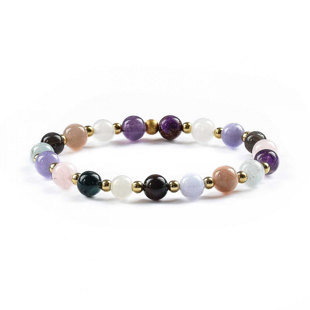 ptsd bracelet, post traumatic stress disorder bracelet, trauma healing bracelet, crystal healing, crystals for ptsd