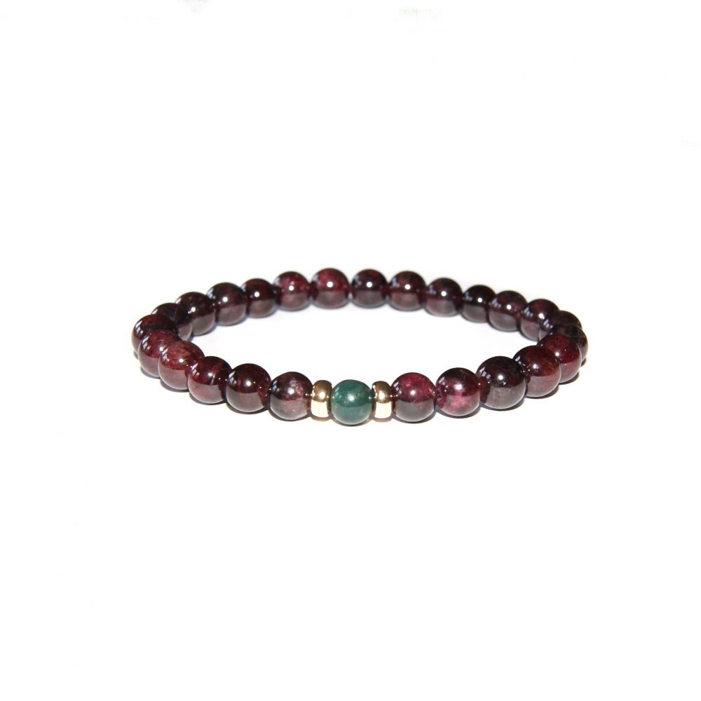 Natural Garnet 9ct Gold Bracelet, UK