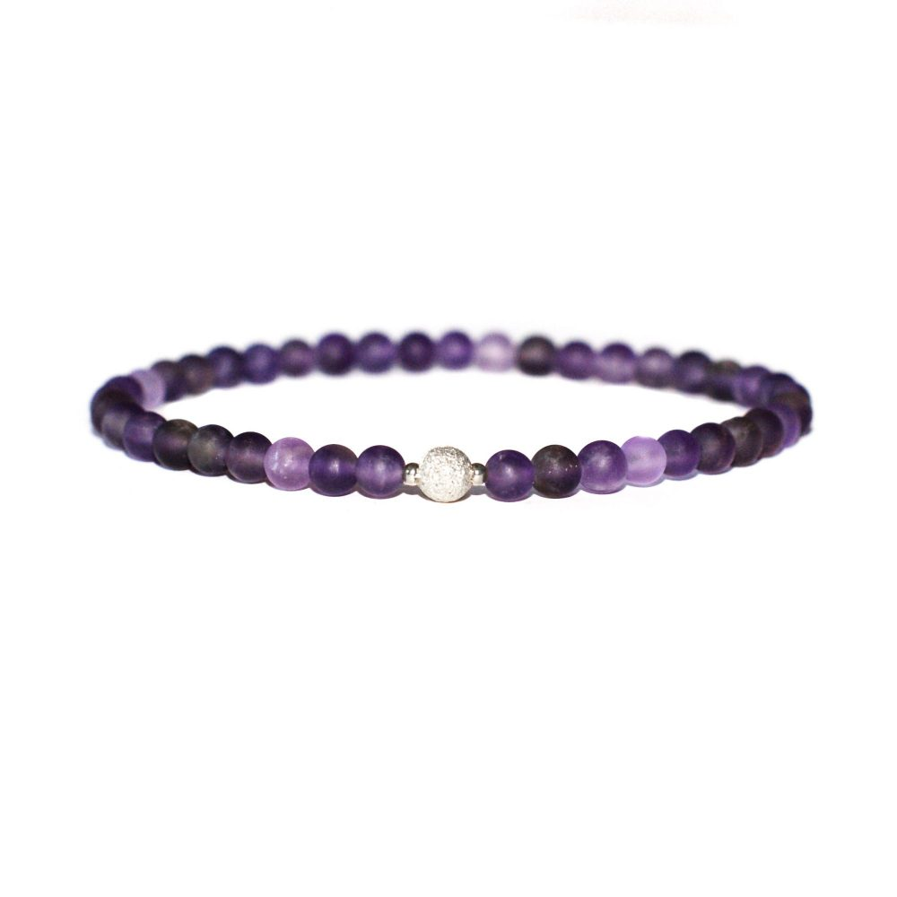 Amethyst and 925 Sterling Silver Bracelet, amethyst bracelet, purple bracelet, gemstone bracelet uk, amethyst jewellery. february birthstone, silver bracelet for women, crystal bracelet uk, healing bracelet
