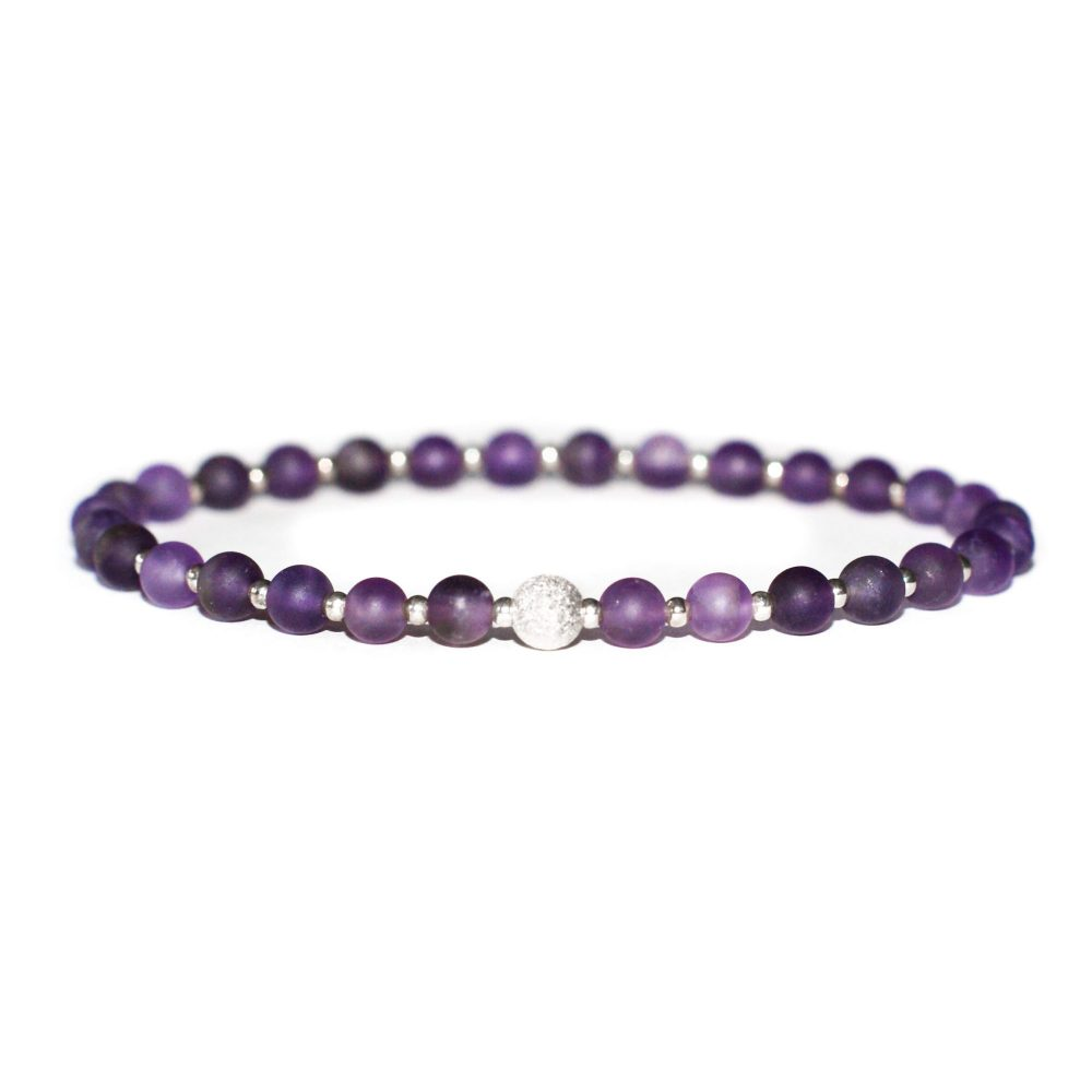 Amethyst and 925 Sterling Silver Bracelet, amethyst bracelet, purple bracelet, gemstone bracelet uk, amethyst jewellery. february birthstone, silver bracelet for women, crystal bracelet uk