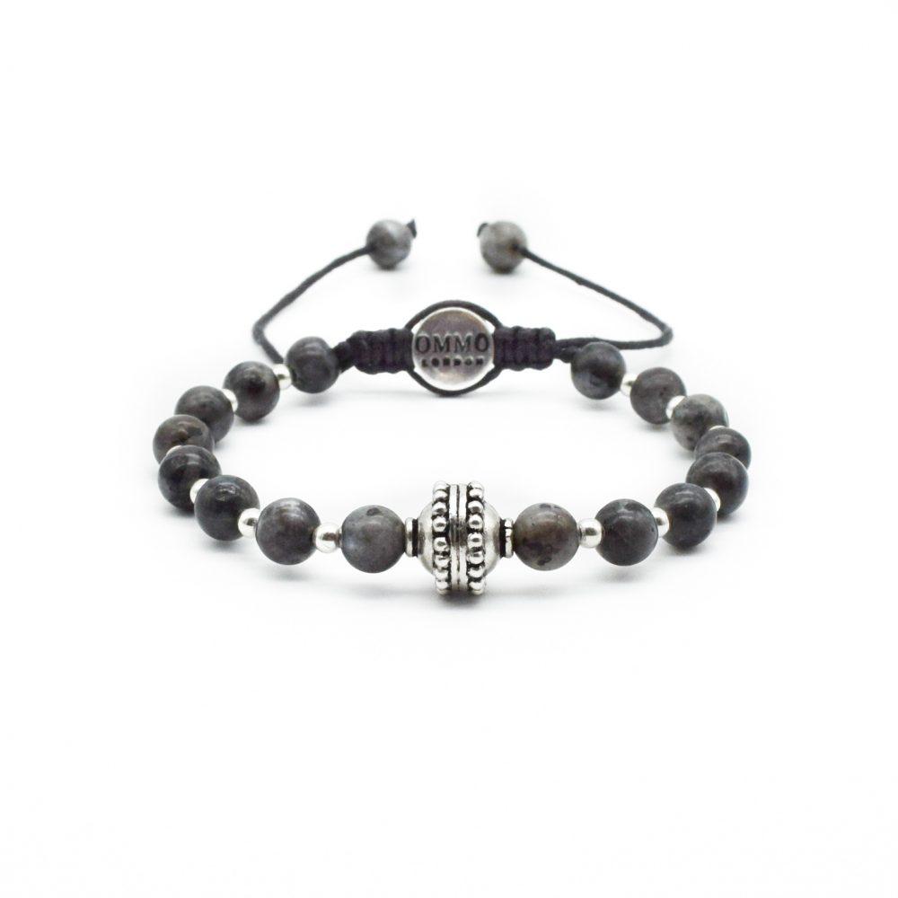 labradorite bracelet, ommo london bracelet, macrame bracelet, shamballa bracelet, silver bracelet, gray bracelet, trendy bracelet, mens bracelet, spiritual bracelet, unique bracelet, designer bracelet, gemstone bracelet