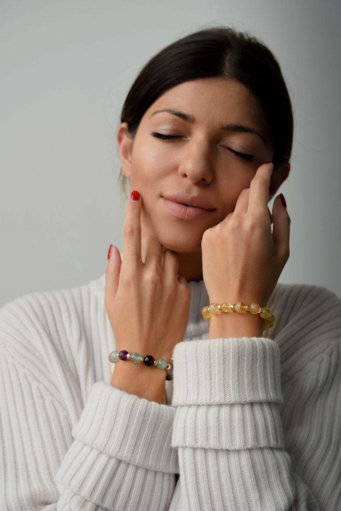 Citrine and Gold bracelet for women