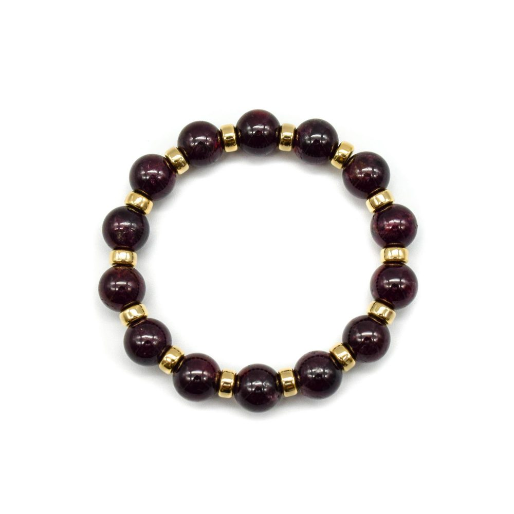 Luxury Garnet and Gold beaded Bracelet, garnet and gold jewellery, garnet bracelet, garnet beaded bracelet, garnet jewellery, designer bracelet, mens bracelet uk, premium garnet bracelet, garnet and 9ct gold bracelet