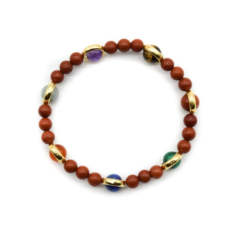 luxury chakra bracelet, healing bracelet, OMMO London, UK, malachite bracelet, malachite and gold, ommo chakra bracelet, luxury chakra bracelet, gold chakra bracelet, designer beaded bracelet, designer chakra bracelet, red bracelet, red jasper bracelet