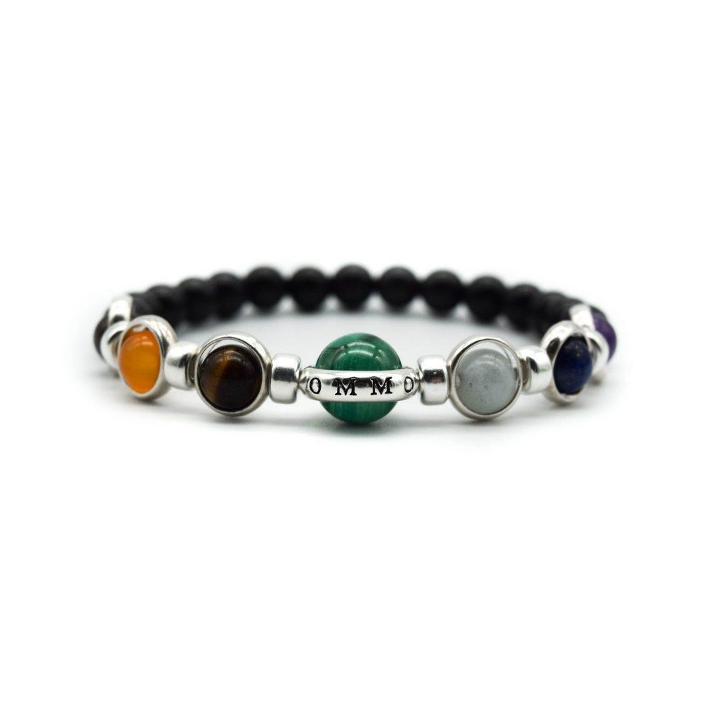 Malachite Unisex Bracelet Mens Beaded Bracelet Ommo London