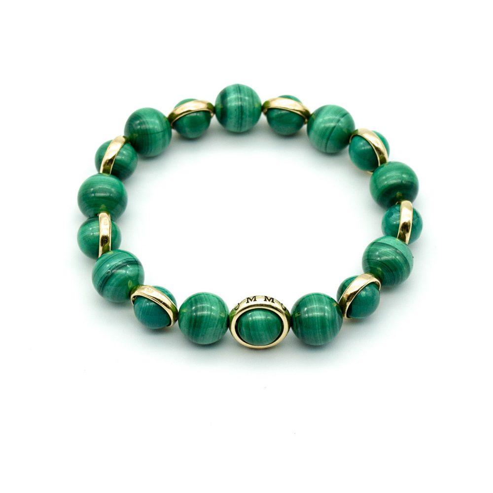 malachite bracelet, malachite and gold bracelet, green bracelet, healing bracelet, luxury jewellery, mens designer bracelets, luxury bracelets, beaded bracelets uk