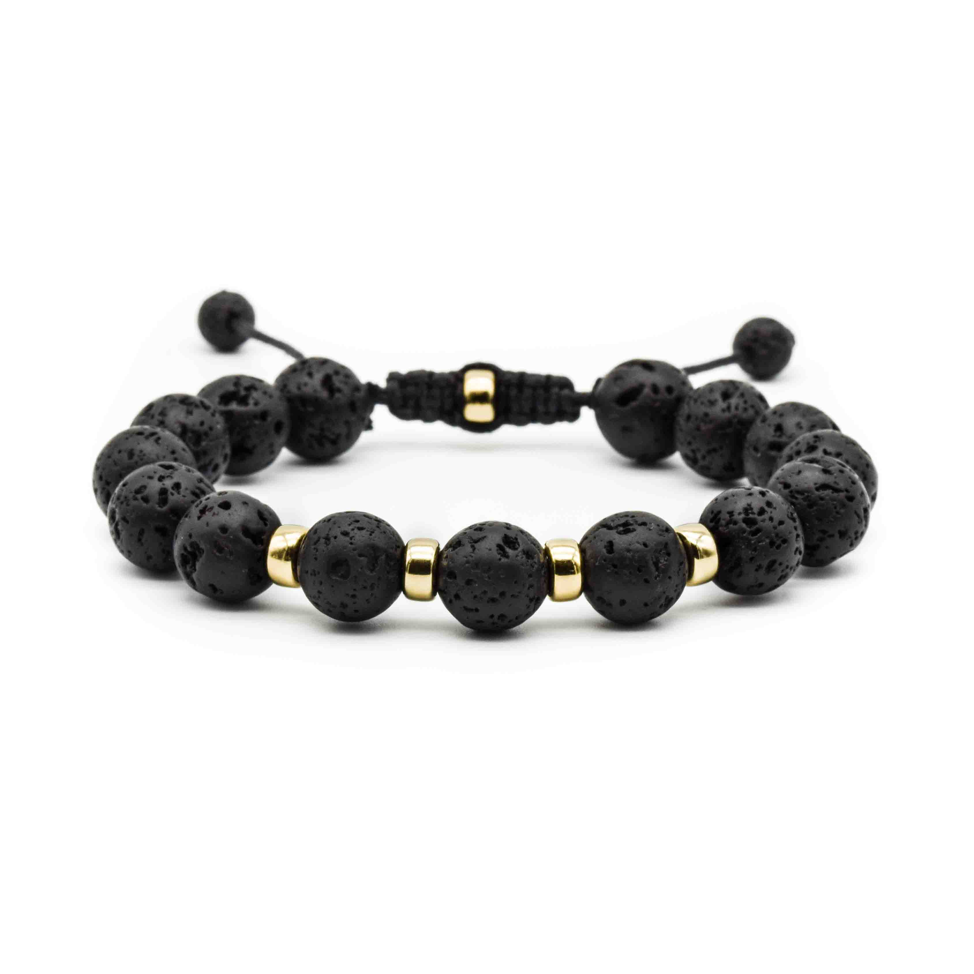 Mens Lava And Gold Bracelet Ommo London Uk