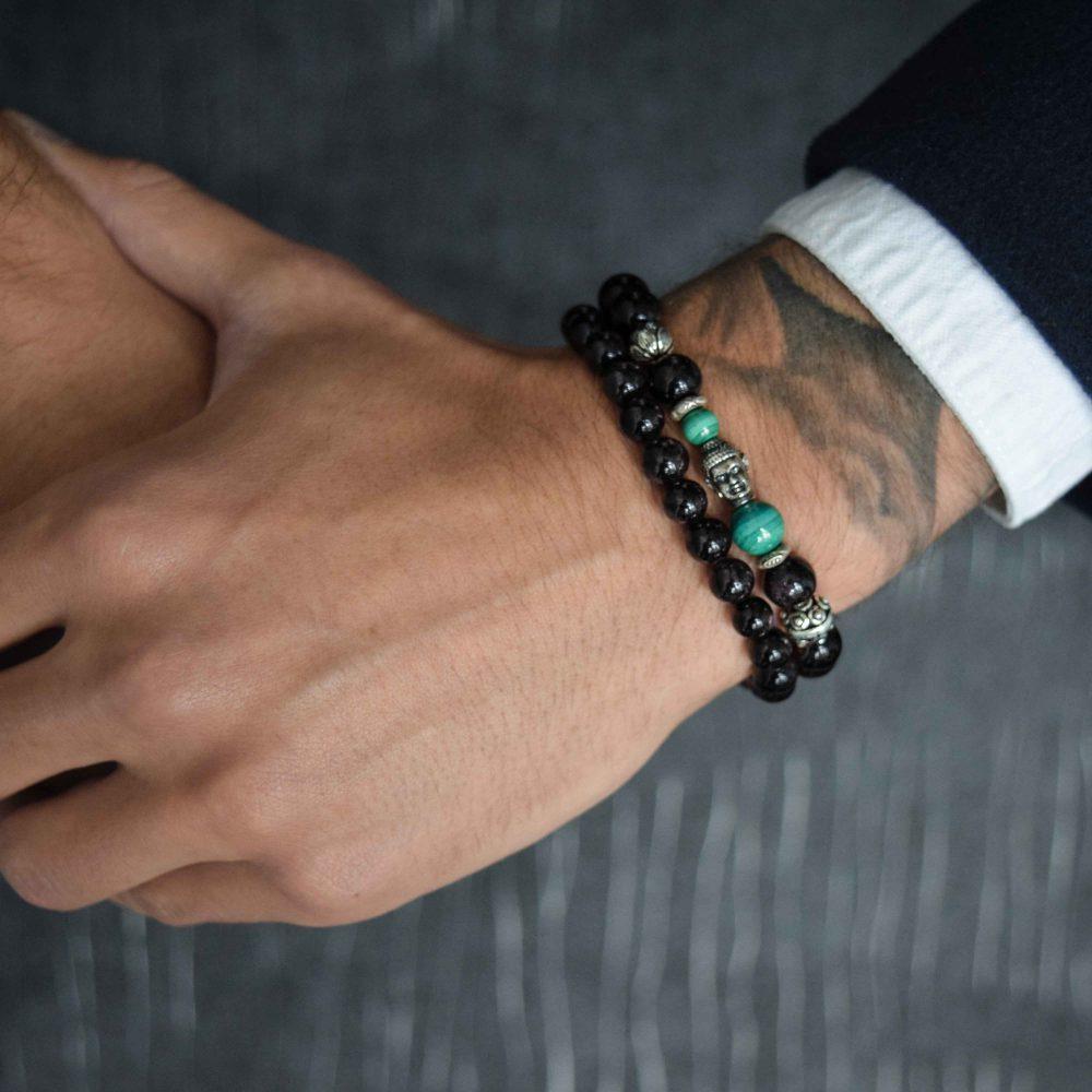 buddha bracelet for men, mens buddha bracelet. spiritual bracelet, malachite bracelet, 925 buddha bracelet, designer beaded bracelet, mens luxury bracelet