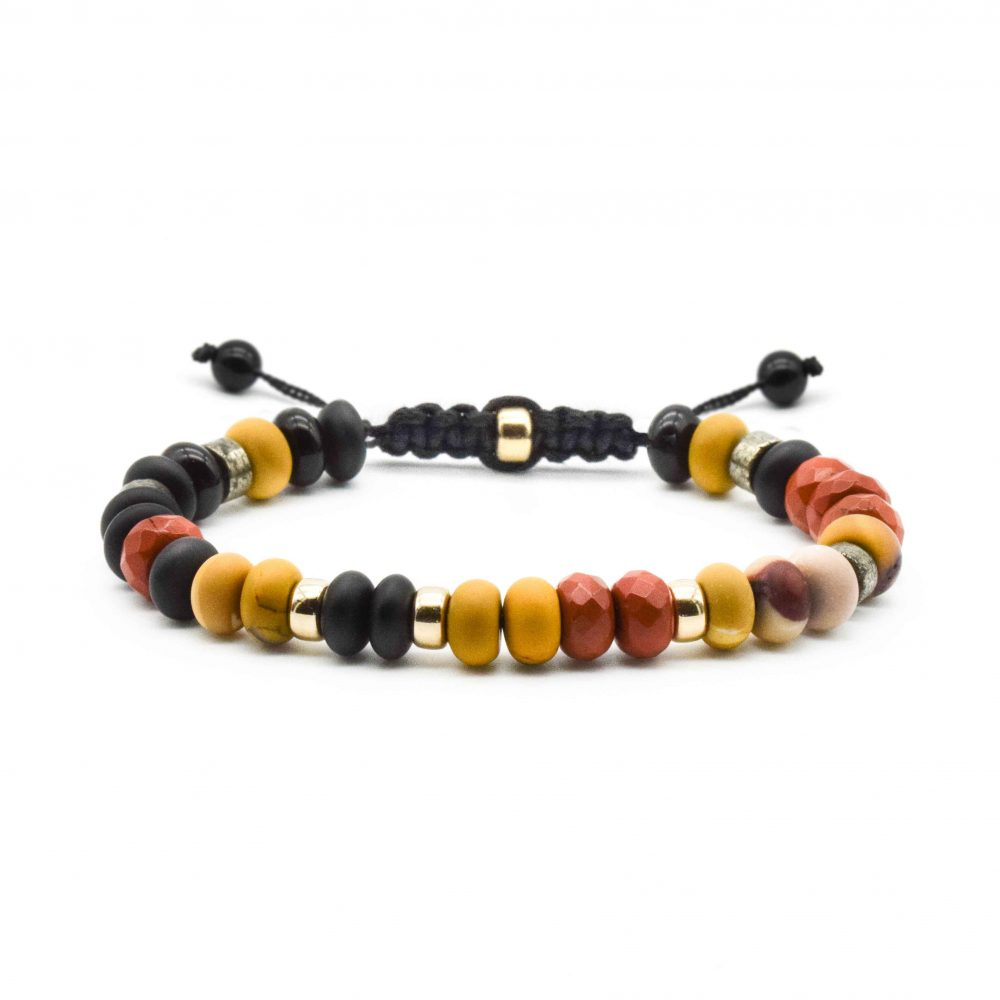 Mookaite Bracelet for Men, beaded bracelet for men, designer bracelet, macrame bracelet, shamballa bracelet, rondelle bracelet, Mookaite Bracelet for women Mookaite and gold bracelet