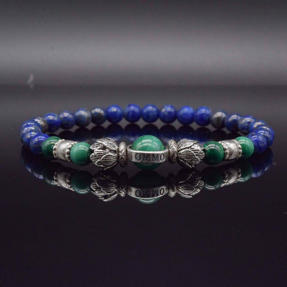 lapis lazuli and lotus bracelet, lotus bracelet, silver lotus bracelet, lapis lazuli bracelet, lapis jewellery, spiritual jewellery, buddha bracelet, buddha jewellery