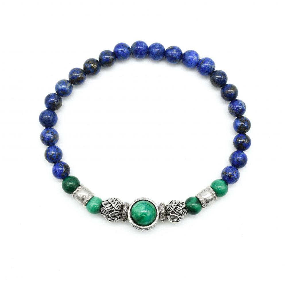 lapis lazuli and lotus bracelet, lotus bracelet, silver lotus bracelet, lapis lazuli bracelet, lapis jewellery, spiritual jewellery, buddha bracelet, buddha jewellery, spiritual bracelets, buddha bracelets for men