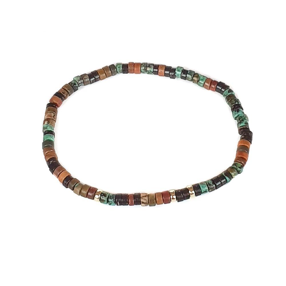 18ct Gold Jasper & Turquoise Heishi Bracelet, jasper bracelet, turquoise bracelet, beaded bracelet, mens designer bracelet, beaded bracelet with gold, healing bracelet, spiritual jewellery