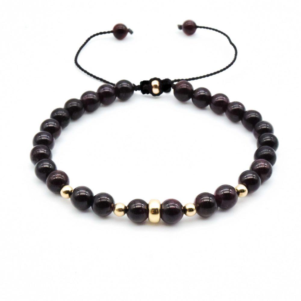 9ct Gold and Garnet shamballa bracelet , garnet bracelet, garnet and gold bracelet, shamballa bracelet, macrame bracelet, garnet jewellery, garnet bracelet for men, designer bracelet