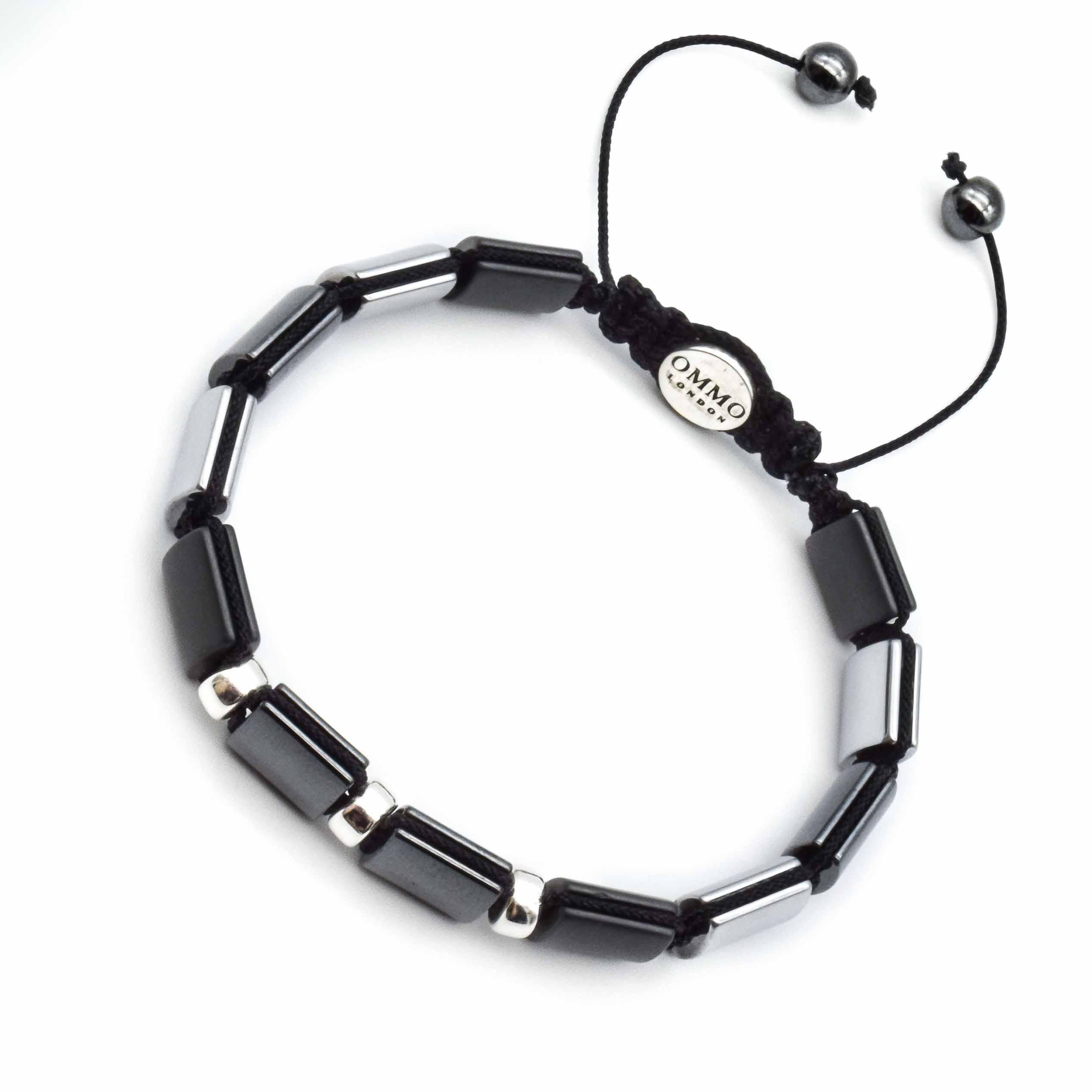 40d96a6cce5e3 Hematite Shamballa Bracelet